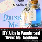 """DIY Alice In Wonderland """"Drink Me"""" Necklace"""