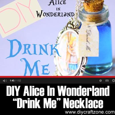DIY Alice In Wonderland Drink Me Necklace