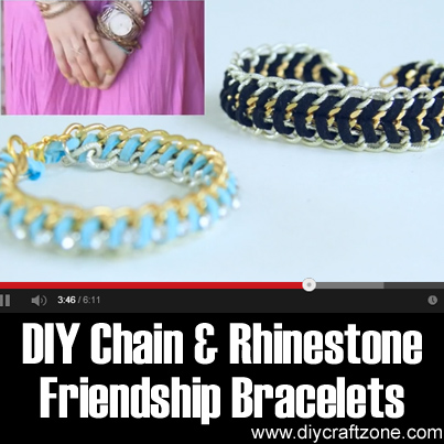 DIY Chain & Rhinestone Friendship Bracelets
