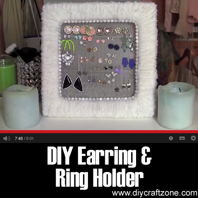 DIY Earring & Ring Holder