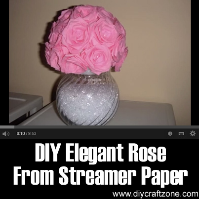 DIY Elegant Rose From Streamer Paper
