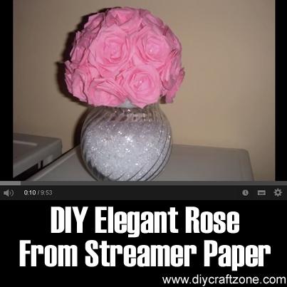 Diy craft zone diy elegant rose from streamer paper diy craft zone mightylinksfo