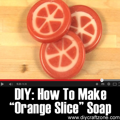 DIY - How To Make -Orange Slice- Soap