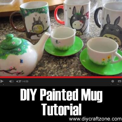 diy craft zone diy painted mug tutorial diy craft zone