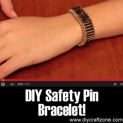 DIY Safety Pin Bracelet!