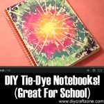 DIY Tie-Dye Notebooks! (Great For School)