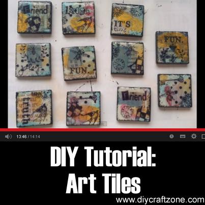 DIY Tutorial - Art Tiles