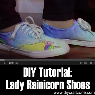 DIY Tutorial -Lady Rainicorn Shoes