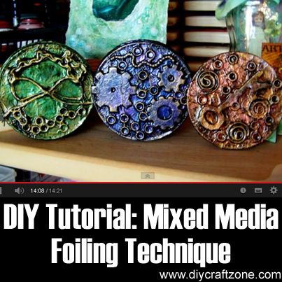 DIY Tutorial - Mixed Media Foiling Technique