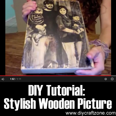 DIY Tutorial - Stylish DIY Wooden Picture