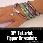 DIY Tutorial: Zipper Bracelets