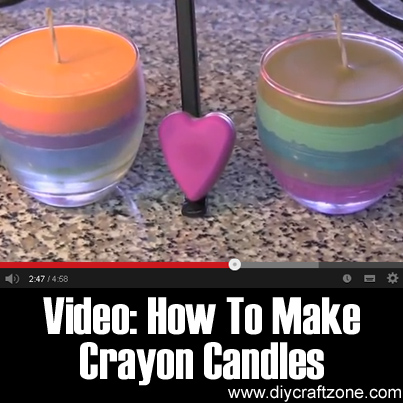 Video - How To Make Crayon Candles