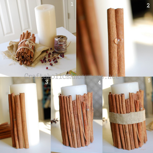 Cinnamon Stick Candle Tutorial