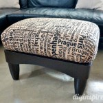 DIY Five Dollar Thrift Store Ottoman Makeover
