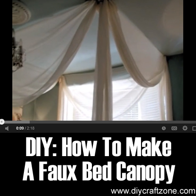 DIY - How to Make a Faux Bed Canopy