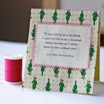 DIY Stitched Fabric Notecard