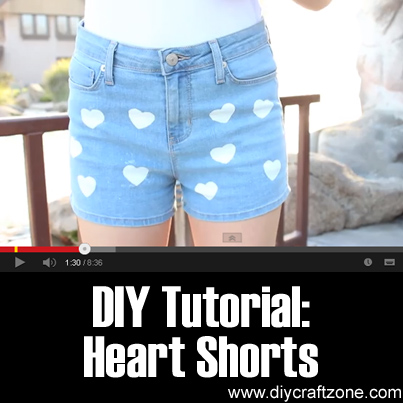 DIY Tutorial - Heart Shorts