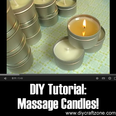DIY Tutorial - Massage Candles!
