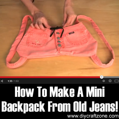 How To Make A Mini Backpack From Old Jeans!