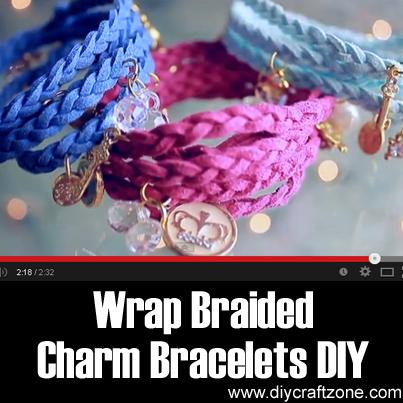 Wrap Braided Charm Bracelets DIY