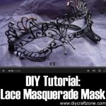 DIY Lace Masquerade Mask