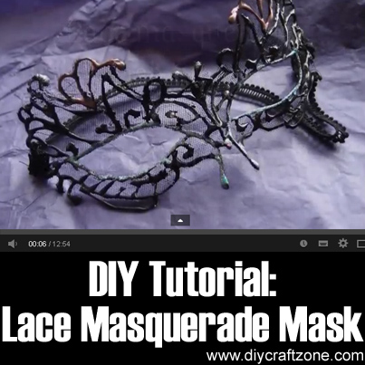 DIY Tutorial Lace Masquerade Mask