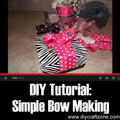 DIY Tutorial Simple Bow Making