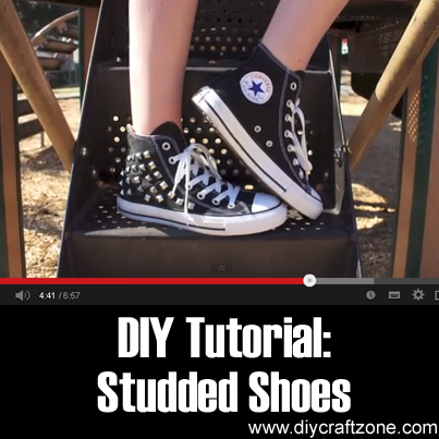 DIY Tutorial Studded Shoes