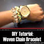 DIY: Woven Chain Bracelet