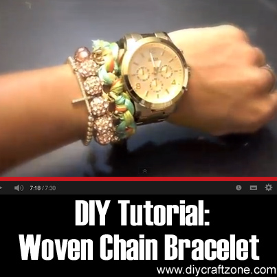 DIY~ Woven Chain Bracelet