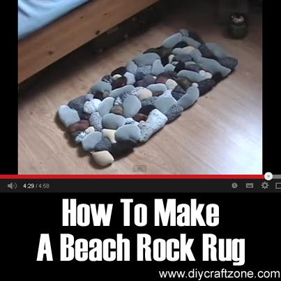 How To Make A Beach Rock Rug