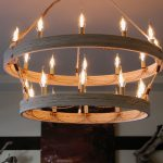 DIY Double Ring Chandelier