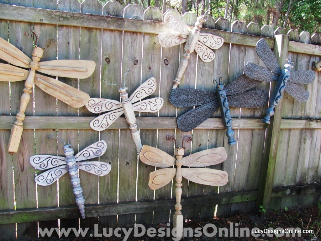 DIY Table Leg Dragonflies With Ceiling Fan Blade Wings