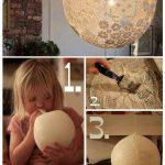 DIY Lace Lamp/Doily Lamp