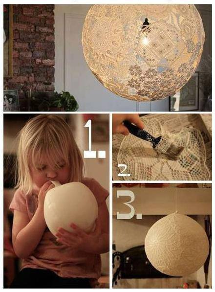 DIY Lace Lamp - Doily Lamp
