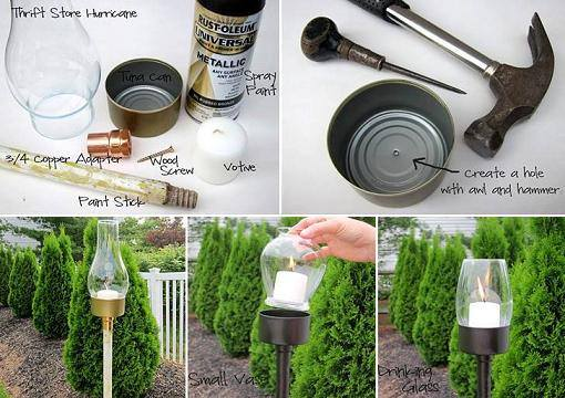 Outdoor Tuna Can Lantern