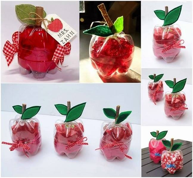 DIY Craft Zone Recycle Plastic Bottles Make Super Cute Apple