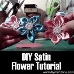 DIY Satin Flower Tutorial