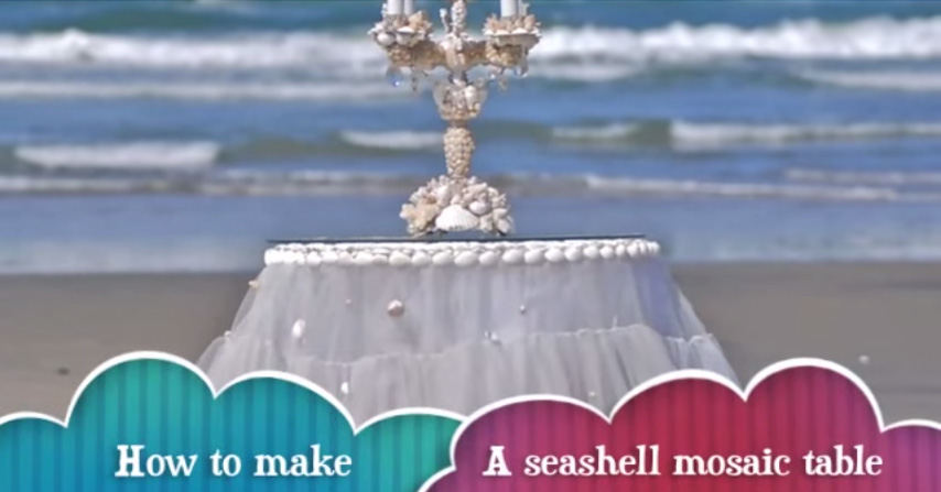 How To Make A Seashell Mosaic Table