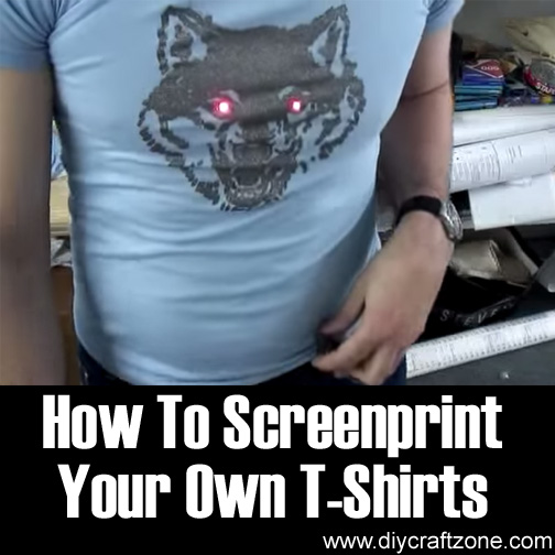 Diy craft zone how to screenprint your own t shirts diy Printing your own t shirts