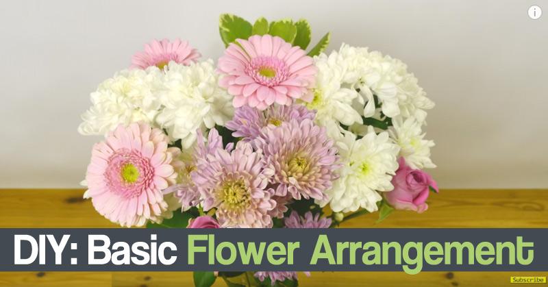 DIY Basic Flower Arrangement