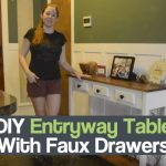 DIY Entryway Table With Faux Drawers