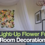 DIY Light-Up Flower Frame Room Decoration
