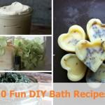 10 Fun DIY Bath Recipes