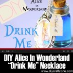 "DIY Alice In Wonderland ""Drink Me"" Necklace"