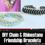 DIY Chain and Rhinestone Friendship Bracelets
