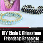 DIY Chain and Rhinestone Friendship Bracelets