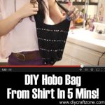 DIY Hobo Bag From Shirt In 5 Mins!