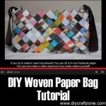 DIY Woven Paper Bag Tutorial