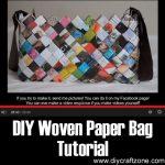 DIY Woven Paper Bag Tutorial